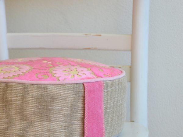 roze meditatiekussens